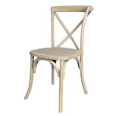 Rental store for Natural Wood Crossback Chairs in Ellsworth and Rockland ME
