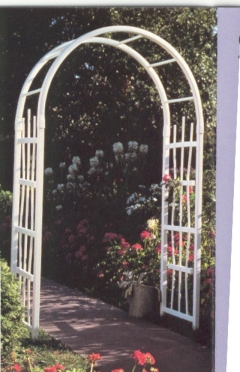 Rental store for White Wedding Arch  4.5 wide x 7.5 tall in Ellsworth and Rockland ME