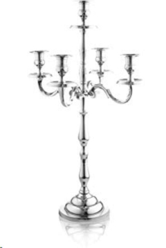 Rental store for Silver 24  Five Light Tabletop Candelabr in Ellsworth and Rockland ME