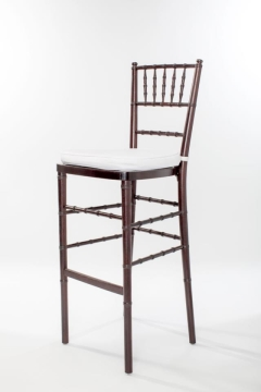 Rental store for Dark Wood Chiavari Barstool Ballroom in Ellsworth and Rockland ME