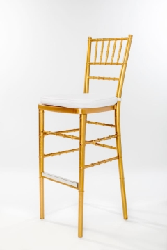 Rental store for Gold Chiavari Barstool Ballroom Chair in Ellsworth and Rockland ME
