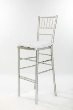 Rental store for Silver Chiavari Barstool Ballroom Chair in Ellsworth and Rockland ME