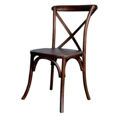 Rental store for Dark Fruitwood Crossback Chairs in Ellsworth and Rockland ME