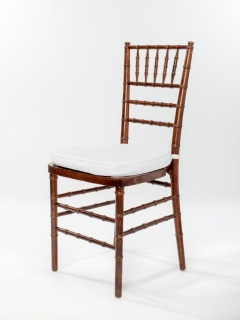 Rental store for Dark Wood Chiavari Ballroom Chair in Ellsworth and Rockland ME