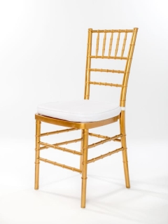 Rental store for Gold Chiavari Ballroom Chair in Ellsworth and Rockland ME