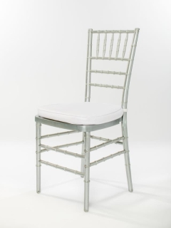 Rental store for Silver Chiavari Ballroom Chair in Ellsworth and Rockland ME