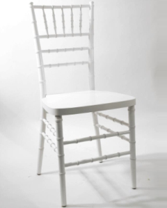 Rental store for White Chiavari Ballroom Chair in Ellsworth and Rockland ME