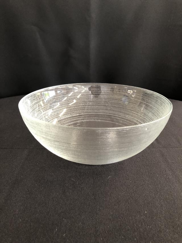 Etched Glass Bowl 8 25 Inch Rentals Ellsworth And Rockland