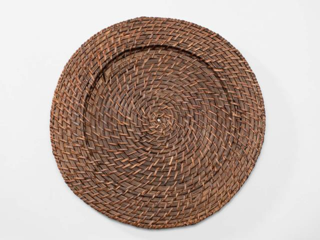 Rattan Chestnut 13 Inch Charger Rentals Ellsworth And