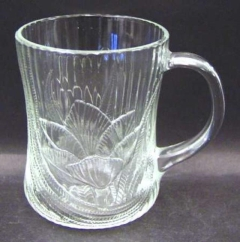 Rental store for Glass Coffee Cup - Flower Pattern in Ellsworth and Rockland ME