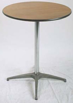 Rental store for 3  Round Cocktail Table  42  Tall in Ellsworth and Rockland ME