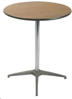 Rental store for Thirty  Round Cocktail Table  42  Tall in Ellsworth and Rockland ME